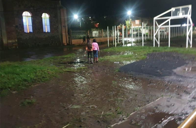 Escuela inundada